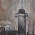 Paris. Morris column in winter, in 1932. Oil on canvas