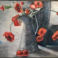 Poppies. Still life, oil on canvas framed