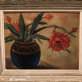 'Winter cactus' oil on canvas C1950