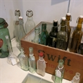 Vintage bottles and flasks